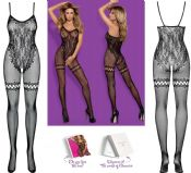 Obsessive Lingerie [ UK 6 - 12 ] Black F213 'Seductive' Bodystocking (E24035)